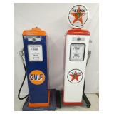GULF & TEXACO REPLICA GAS PUMPS