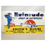 14X25 EVINRUDE OUTBOARDS MARINE SIGN