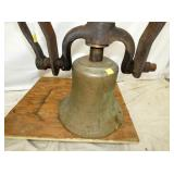 VIEW 2 ORIG. TRAIN BELL W/ YOKE