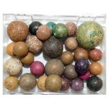 1/2-1IN CLAY MARBLES