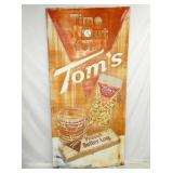 RARE 45X93 EMB. TOMS VERTICAL SIGN