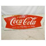 24X68 PORC. COCA COLA FISHTAIL SLED