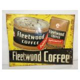 22X28 EMB. FLEETWOOD COFFEE SIGN