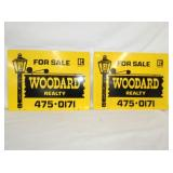 16X24 WOODARD REALTY METAL SIGNS