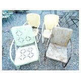 VARIOUS WROUGHT IRON CHAIRS