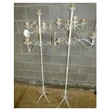 PAIR WROUGHT IRON CANDLE OBRAS