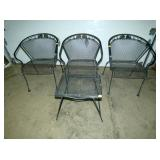 4PC. WROUGHT IRON PATIO SET