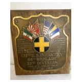 1917-1919 132ND INFANTRY PLAQUE