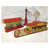 EARLY TIN LITHO TRAIN ASSESSORIES