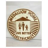 17 1/2 NOS EMB. MEDALLION HOME ELE. SIGN