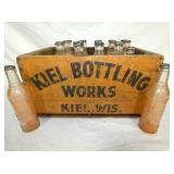 9X16 NIEL BOTTLING WORKS CRATE W/ BOTTLES