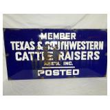 VIEW 2 OTHERSIDE PORC. CATTLE RAISERS SIGN