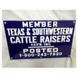 12X20 PORC. CATTLE RAISERS POSTED SIGN