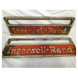 8X27 INGERSOILL-RAND CAST SIGNS