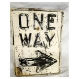15X25 HEAVEY EMB. ONE WAY SIGN