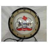 17IN SHINERS BEER PLASTIC CLOCK