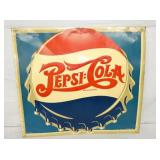 27X30 EMB. PEPSI DOUBLE DOT COLA SIGN