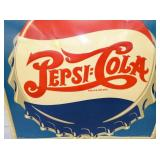 VIEW 2 EARLY PEPSI DOUBLE DOT CAP SIGN