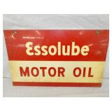 10 1/2X17 1/2 1947 ESSOLUBE OIL SIGN