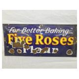 10X23 PORC. FIVE ROSES FLOUR SIGN