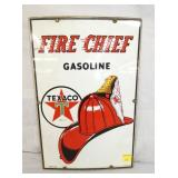 12X18 PORC. 1957 FIRE CHIEF SIGN