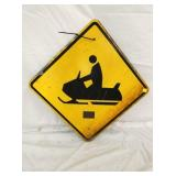 24X24 SNOWMOBILE CROSSING SIGN