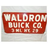 24X48 WALDRON BUICK CO. SIGN