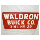VIEW 2 CLOSEUP WALDRON BUICK CO. SIGN