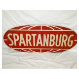24X60 SPARTANBURG 1962 WOODEN SIGN