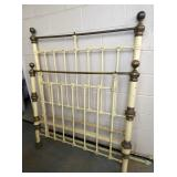 DOUBLE IRON BED W/ BRASS
