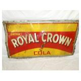 39X72 EMB. ROYAL CROWN COLA SIGN