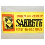 14X28 EMB. SELF FRAMED SAKRETE SIGN