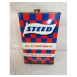 1G. STEED OIL CAN W/ CHECKER BOARD