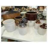VARIOUS STONEWARE JUGS AND CROCKS