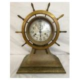 BRASS SETH THOMAS NAUTICAL CLOCK