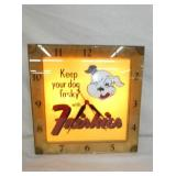 FRISKIES LIGHTED ADV. CLOCK