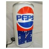 VIEW 2 CLOSEUP UNUSUAL PEPSI CLOCK