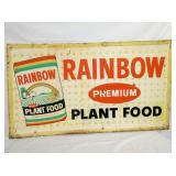 32X56 EMB. RAINBOW PLANT FOOD SIGN