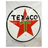 6FT. PORC. 1961 TEXACO SIGN