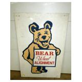 32X47 BEAR WHEEL ALIGNMENT SIGN