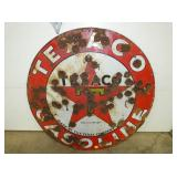 42IN PORC. TEXACO GASOLINE SIGN