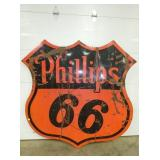 1955 PHILLIPS 66 SHIELD SIGN
