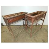 2 MATCHING WICKER PLANTERS
