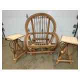 WILLOW CHAIR AND TABLES