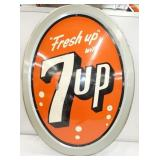 31X40 1962 7UP BUBBLE SIGN