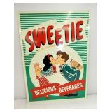 14X19 1951 SWEETIE BEVERAGE SIGN