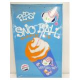 23X35 1967 EMB. PEPSI SNO BALL SIGN