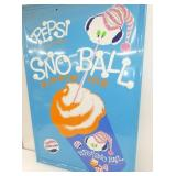 VIEW 2 CLOSE UP PEPSI SNO BALL SIGN
