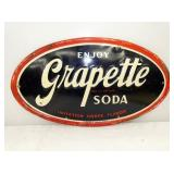 10X17 1948 EMB. GRAPETTE SIGN