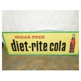18X54 EMB. DIET-RITE COLA SIGN
